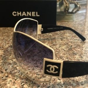 AUTHENTIC CHANEL LOGO SPORT SHIELD SUNGLASSES